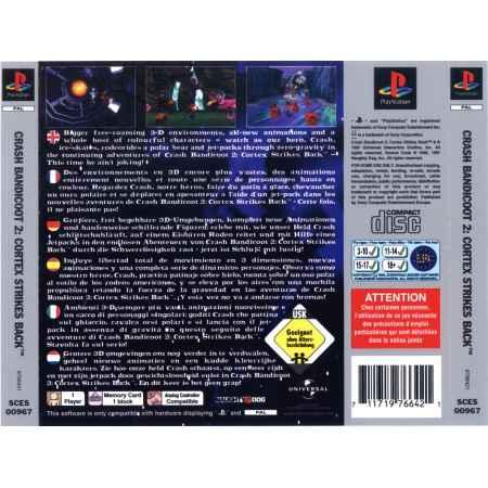 Crash Bandicot 2: Cortex Strikes Back - (Platinum) - PS1 [Versione Italiana]