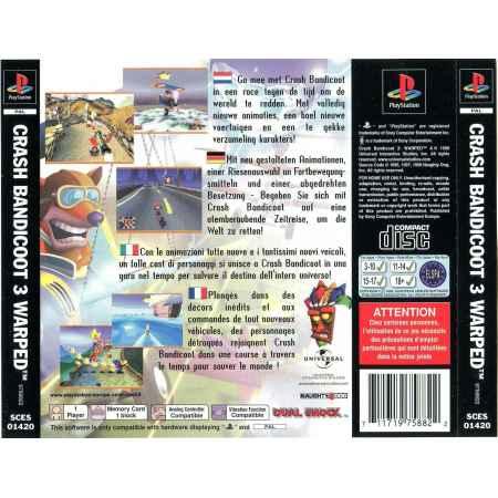 Crash Bandicoot 3: Warped - PS1 [Versione Italiana]