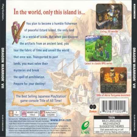 Dragon Warrior VII (Dragon Quest) - PS1 [Versione Americana]
