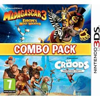 Madagascar 3 & The Croods Prehistoric Party: Combo Pack - Nintendo 3DS [Versione Inglese Multilingue]
