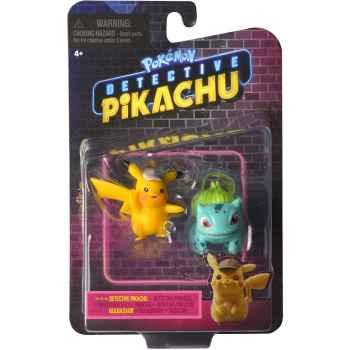TOYS - Action Figure Pokemon Detective Pikachu - Pikachu e Bulbasaur (11.3 x 6.4 x 17.8 cm)