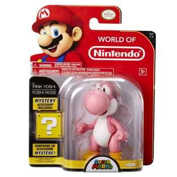 TOYS - World Of Nintendo Super Mario - Pink Yoshi With Mystery Accessory (Confezione Rovinata)