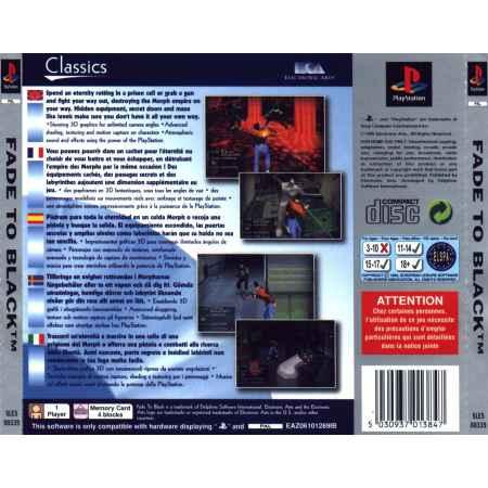 Fade To Black (Electronic Arts Classics) - PS1 [Versione Italiana]