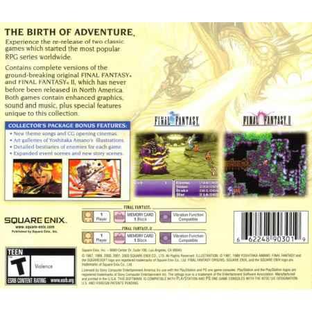 Final Fantasy: Origins (Greatest Hits) - PS1 [Versione Americana]