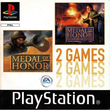 Medal Of Honor + Medal Of Honor: Underground (2 Games) - PS1 [Versione Italiana]