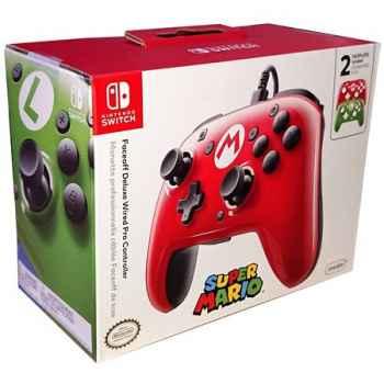 Pro Controller PDP - Faceoff Deluxe Mario Edition Per Nintendo Switch