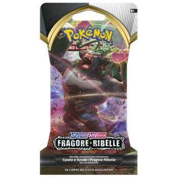 """Pokemon Spada e Scudo Fragore Ribelle busta 10 carte in blister """"Paper Sleeve"""" (IT)"""