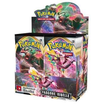 Pokemon Spada e Scudo Fragore Ribelle display 36 buste (IT)