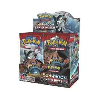 Pokemon Sun and Moon Crimson Invasion display 36 buste (ENG)