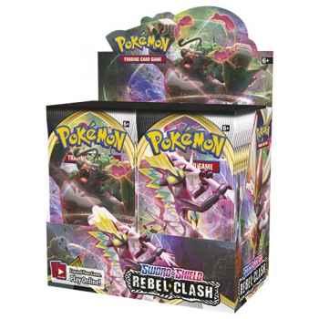 Pokemon Sword and Shield Rebel Clash display 36 buste (ENG)