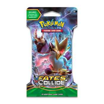 """Pokemon XY Fates Collide busta 10 carte in blister """"Paper Sleeve"""" (ENG)"""