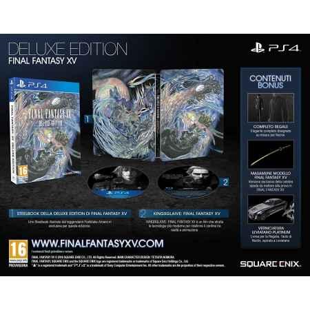 Final Fantasy XV (15) - Deluxe Steelbook Edition [Versione EU Multilingue]