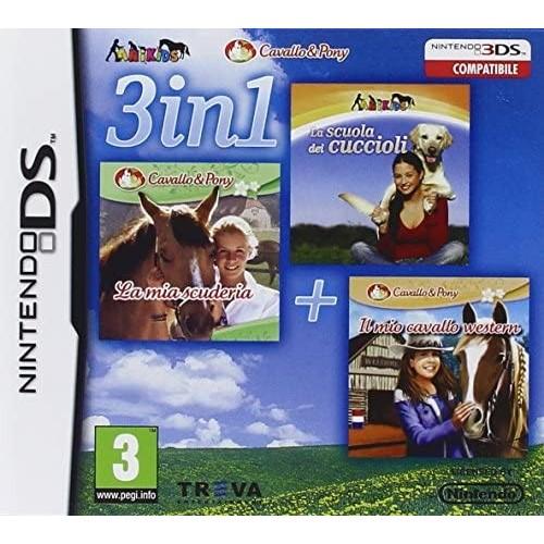 3 in 1 Animals: La mia scuderia + La scuola dei cuccioli + Il mio cavallo western - Nintendo DS [Versione Italiana]
