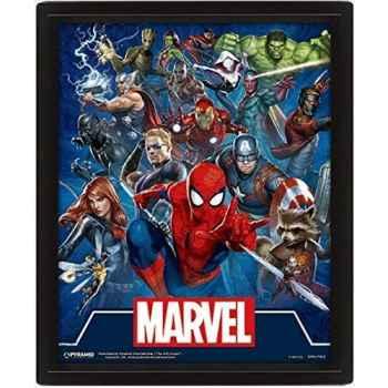 Marvel EPPL71313 Cornice 3D 29 x 24 cm (Cinematic Icons), Multicolore, (28. 7 x 23. 5 x 4. 5 cm)
