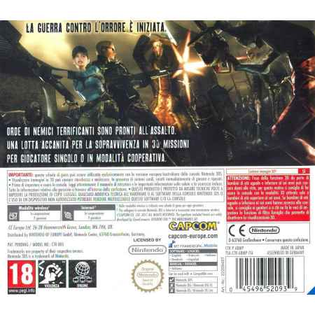 Resident Evil: The Mercenaries 3D - Nintendo 3DS [Versione Italiana]