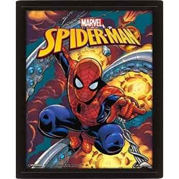 Marvel - Cornice 3D 29 x 24 cm (Spider-Man Costume Blast), Multicolore, (28. 7 x 23. 5 x 4. 5 cm) (Confezione Rovinata)