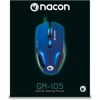 Nacon Mouse da Gioco con Sensore Ottico, Blu - PC