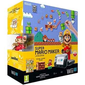Nintendo Wii U Nera 32GB Super Mario Maker Premium Pack (Gioco Incluso) - Console [Versione Italiana]