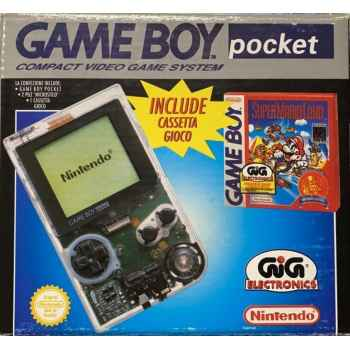 Nintendo GameBoy Pocket Trasparente + Super Mario Land (Nintendo Classics) (Gioco Incluso) - Console [Versione Italiana]