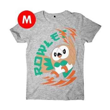 T-Shirt Pokémon Sole e Luna - Rowlet - Taglia M
