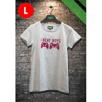 T-Shirt Gamer Donna - I Beat Boys - Taglia L
