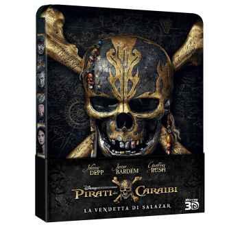 Pirati Dei Caraibi - La Vendetta Di Salazar - Steelboock Blu-Ray 3D (2017)