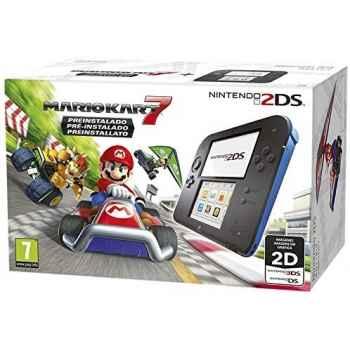Nintendo 2DS (Nera/Blu) + Mario Kart 7 - Console [Versione Italiana]