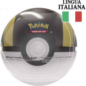 Tin Ultra Ball in Italiano - Pokéball di Latta + 3 Buste da 10 Carte Casuali + Moneta Pokémon (2020) (IT)