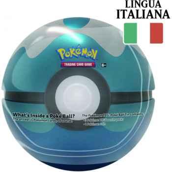 Tin Sub Ball in Italiano - Pokéball di Latta + 3 Buste da 10 Carte Casuali + Moneta Pokémon (2020) (IT)