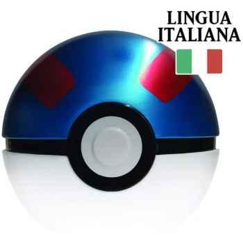 Tin Mega Ball in Italiano - Pokéball di Latta + 3 Buste da 10 Carte Casuali + Moneta Pokémon