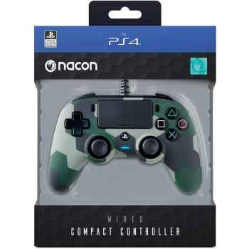 (PS4) BigBen Interactive Nacon Compact Controller Camogreen con Cavo - Licenza Ufficiale Sony PlayStation - PlayStation 4