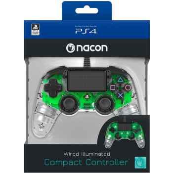 (PS4) BigBen Interactive Nacon Compact Controller Luminosi, Verde - PlayStation 4