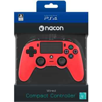 (PS4) BigBen Interactive Nacon Compact Controller - Rosso - Classics - PlayStation 4