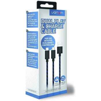 (PS5) Venom 3 Metre Dual Play & Charge Cable (PS5)