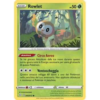06 / 72 Rowlet Comune normale (Near Mint/Mint) - Destino Splendente (ITA 2021)
