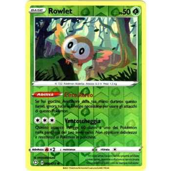 06 / 72 Rowlet Comune Holo Reverse foil (Near Mint/Mint) - Destino Splendente (ITA 2021)