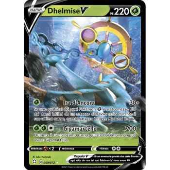 09 / 72 Dhelmise V Rara Holo V foil (Near Mint/Mint) - Destino Splendente (ITA 2021)