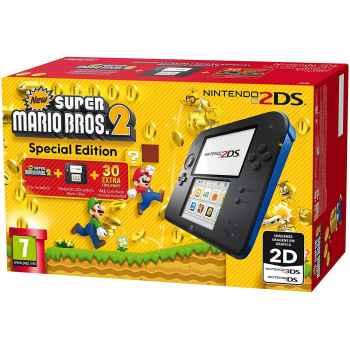 Nintendo 2DS (Nera/Blu) + New Super Mario Bros. 2 - Console [Versione Italiana]