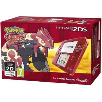 Nintendo 2DS Console Rosso Trasparente + Pokemon Rubino Omega [Bundle] - Console [Versione Tedesca Multilingue]