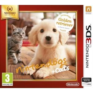 Nintendogs + Cats: Golden Retriver - Selects  - Nintendo 3DS [Versione Inglese Multilingue]